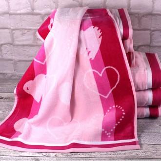 Набор полотенец для ванной 6 шт. Ozdilek LOVE STORY хлопковая махра розовый