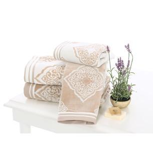 Набор полотенец для ванной 6 шт. Ozdilek MABEL хлопковая махра кремовый 50х90