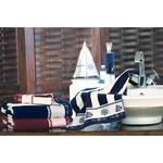 Набор полотенец для ванной 6 шт. Ozdilek PUSULA хлопковая махра тёмно-синий 50х90, фото, фотография