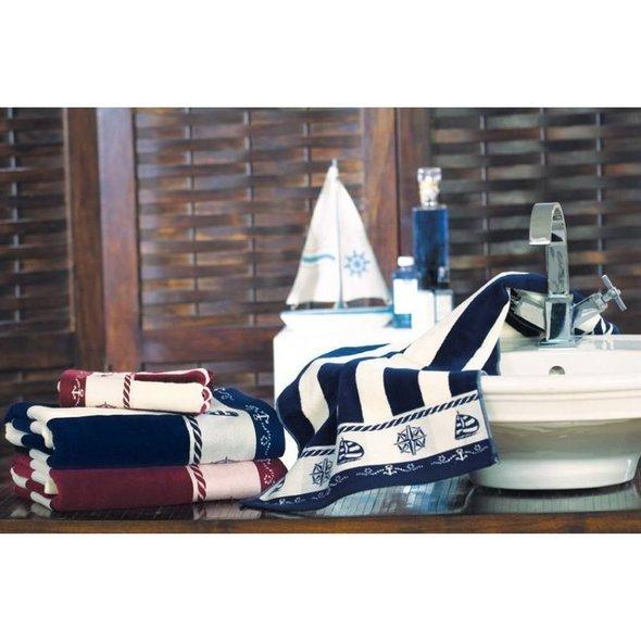 Набор полотенец для ванной 6 шт. Ozdilek PUSULA хлопковая махра тёмно-синий 50*90, фото, фотография