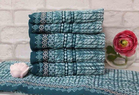 Набор полотенец для ванной 6 шт. Ozdilek TERAPHY хлопковый велюр ментол 50*90, фото, фотография