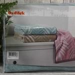 Набор полотенец для ванной 6 шт. Ozdilek YAPRAK хлопковая махра кофейный 50х90, фото, фотография