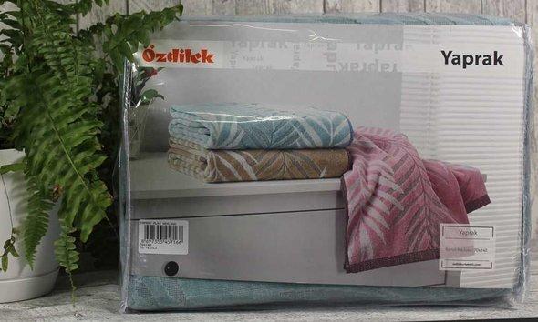 Набор полотенец для ванной 6 шт. Ozdilek YAPRAK хлопковая махра кофейный 70*140, фото, фотография