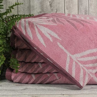 Набор полотенец для ванной 6 шт. Ozdilek YAPRAK хлопковая махра розовый