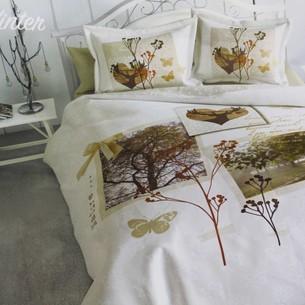 Постельное белье Ozdilek ART LOVE WINTER хлопковый сатин евро
