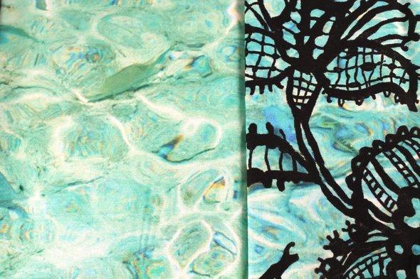 Постельное белье Ozdilek GRAND BOLERO хлопковый ранфорс мятный евро, фото, фотография