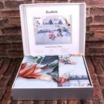 Постельное белье Ozdilek GRAND LAVISTA хлопковый ранфорс бирюзовый евро, фото, фотография