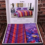 Постельное белье Ozdilek GRAND NORRIS хлопковый ранфорс лиловый евро, фото, фотография
