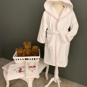 Детский халат La Villa LAMA хлопковая махра розовый 4 года