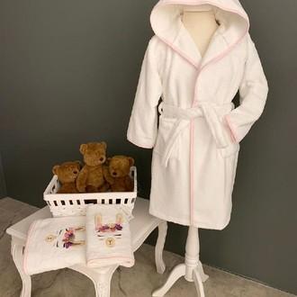 Детский халат La Villa LAMA хлопковая махра розовый