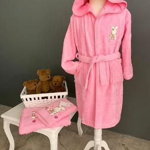 Детский халат La Villa TAVSAN хлопковая махра розовый 10 лет