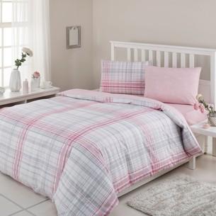 Постельное белье Ozdilek MODALETTO TREND CASPIAN хлопковый ранфорс розовый 1,5 спальный