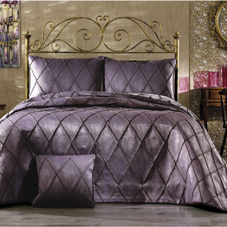 Покрывало Grazie Home PARMA жаккард фиолетовый