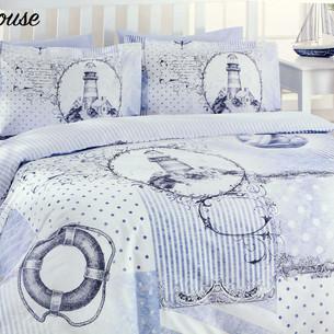 Постельное белье взрослое/детское Ozdilek RANFORCE LIGHT HOUSE хлопковый ранфорс 1,5 спальный