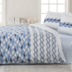 Постельное белье Ozdilek RANFORCE MATHIS хлопковый ранфорс голубой 1,5 спальный