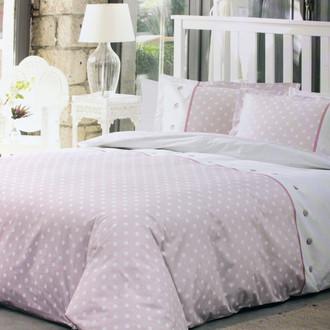 Постельное белье Ozdilek RANFORCE POLKA хлопковый ранфорс розовый