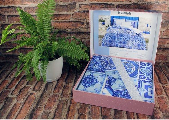 Постельное белье Ozdilek GEOMETRIK CERAMICA хлопковый ранфорс евро, фото, фотография