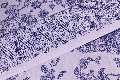 Постельное белье Ozdilek PIERA BLUE LACE хлопковый ранфорс евро, фото, фотография