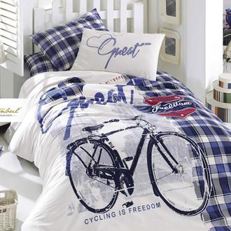 Детское постельное белье Istanbul Home Collection GENC RANFORCE FREEDOM хлопковый ранфорс голубой