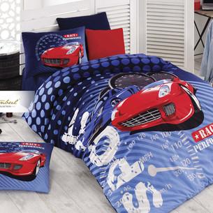 Детское постельное белье Istanbul Home Collection GENC RANFORCE SPORT RACE хлопковый ранфорс 1,5 спальный