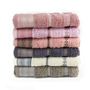 Набор полотенец для ванной 6 шт. Cestepe VIP COTTON CIZGILI хлопковая махра 50х90