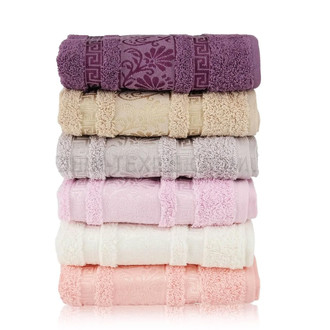 Набор полотенец для ванной 6 шт. Cestepe VIP COTTON DIANA хлопковая махра