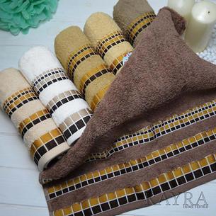 Набор полотенец для ванной 6 шт. Cestepe VIP COTTON KARE хлопковая махра 50х90