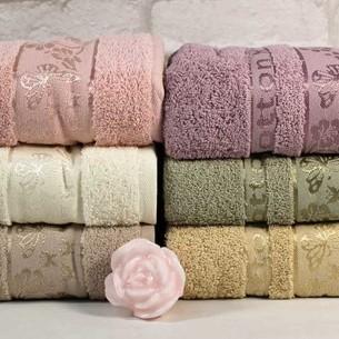 Набор полотенец для ванной 6 шт. Cestepe VIP COTTON KELEBEK хлопковая махра 70х140