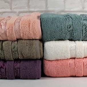 Набор полотенец для ванной 6 шт. Cestepe VIP COTTON MELISA хлопковая махра 90х150