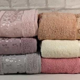 Набор полотенец для ванной 6 шт. Cestepe VIP COTTON ORKIDE хлопковая махра 50х90
