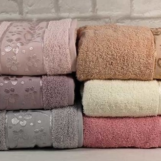 Набор полотенец для ванной 6 шт. Cestepe VIP COTTON ORKIDE хлопковая махра