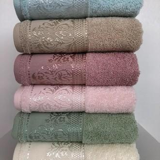 Набор полотенец для ванной 6 шт. Cestepe VIP COTTON SARA хлопковая махра