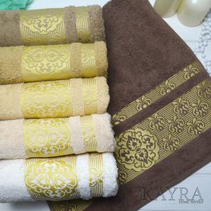 Набор полотенец для ванной 6 шт. Cestepe VIP COTTON SURMA хлопковая махра 50х90