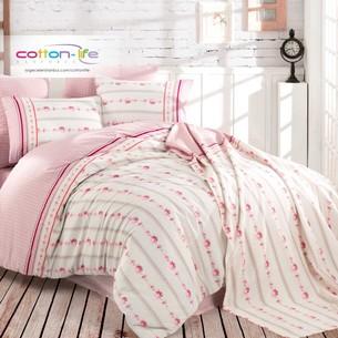 Постельное белье Istanbul Home Collection COTTON LIFE AMIE ранфорс розовый евро