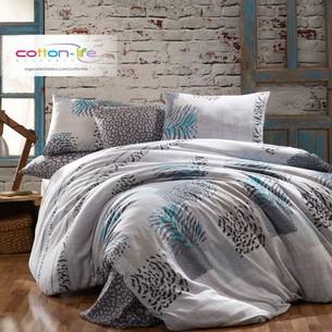 Постельное белье Istanbul Home Collection COTTON LIFE LEOPAR ранфорс серый евро