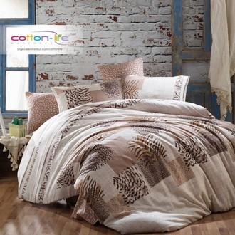 Постельное белье Istanbul Home Collection COTTON LIFE LEOPAR ранфорс коричневый