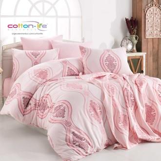Постельное белье Istanbul Home Collection COTTON LIFE OTTOMAN ранфорс розовый