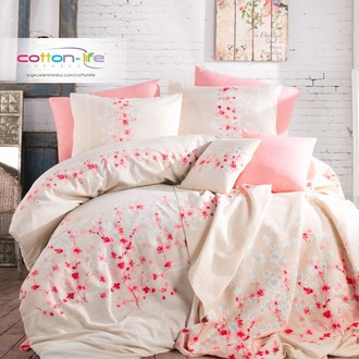 Постельное белье Istanbul Home Collection COTTON LIFE SAKURA ранфорс экрю