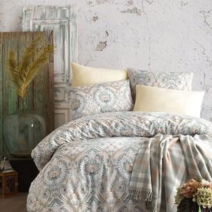 Постельное белье с пледом Istanbul Home Collection NADINE хлопковый ранфорс хаки евро