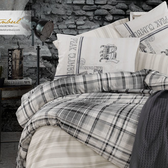 Постельное белье Istanbul Home Collection RANFORCE NORTHWEST хлопковый ранфорс дымчатый