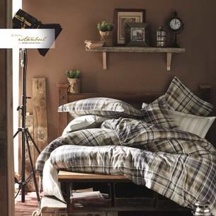 Постельное белье Istanbul Home Collection RANFORCE NORTHWEST хлопковый ранфорс коричневый евро