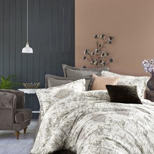 Постельное белье Istanbul Home Collection PURE SATIN AVENUE хлопковый сатин коричневый евро