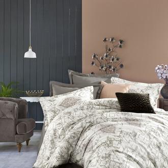 Постельное белье Istanbul Home Collection PURE SATIN AVENUE хлопковый сатин коричневый