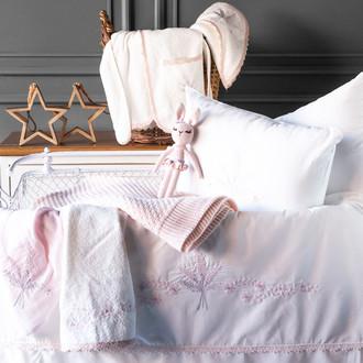 Набор в кроватку для новорожденных Pupilla ABBY хлопковый сатин белый