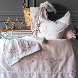 Набор в кроватку для новорожденных Pupilla ABBY хлопковый сатин пудра