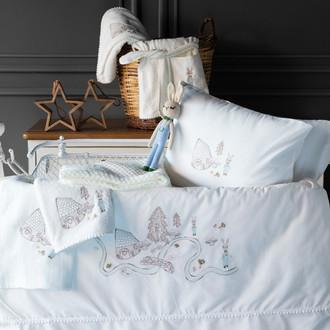 Набор в кроватку для новорожденных Pupilla TOFFEE хлопковый сатин кремовый