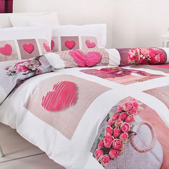 Постельное белье Ozdilek SOFT LIFE HEARTS хлопковый сатин розовый