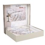 Постельное белье Ozdilek SOFT LIFE NEO CLASSIC хлопковый сатин кремовый евро (4 нав.), фото, фотография