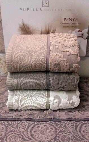 Набор полотенец для ванной 4 шт. Pupilla MONICA хлопковая махра 50х90, фото, фотография