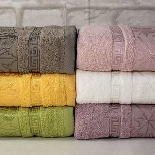 Набор полотенец для ванной 6 шт. Pupilla CINAR хлопковая махра 70х140